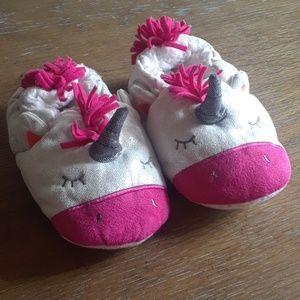 Carter's Toddler Baby Girl Unicorn Slippers 2T 3T